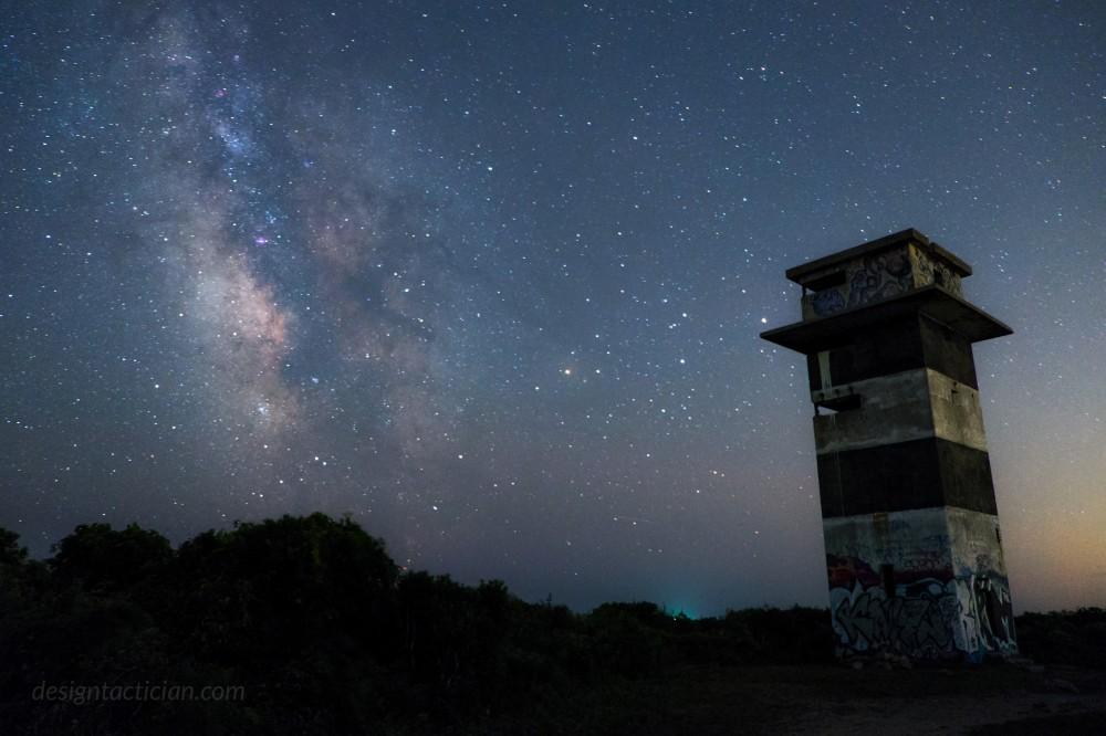 Perseids Meteor Shower, Gooseberry Island, Westport, Masschusetts