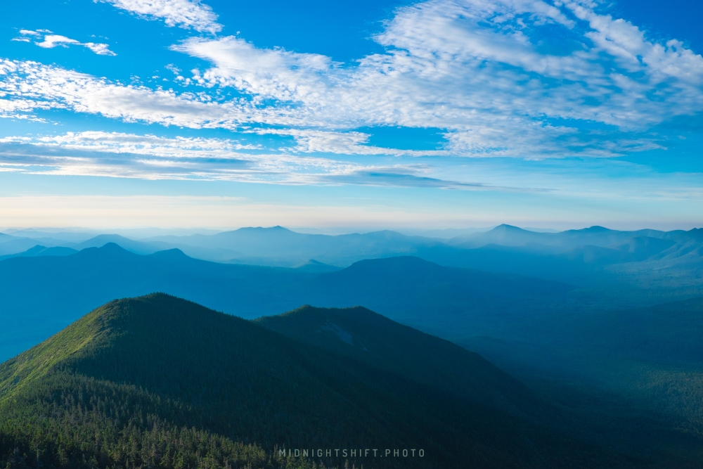 Peaks of the White Mountains in New Hampshire